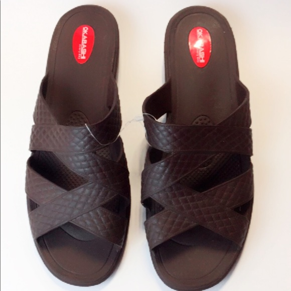 bddbc85be3f79d Made Okabashi Brown Arch Support Sandals Size 10